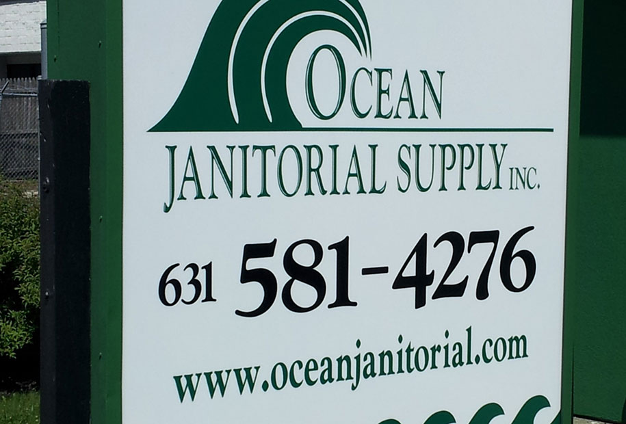 Ocean Janitorial Sign